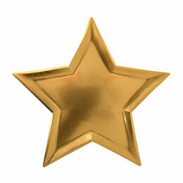 Meri Meri Gold Foil Star Plates - Set of 8