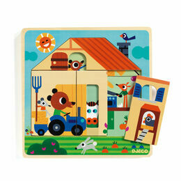 Djeco 3 Layer Wooden Puzzle - Gaby's House