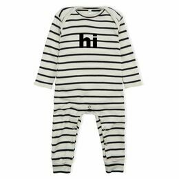 Organic Zoo Breton Stripe 'Hi' Playsuit