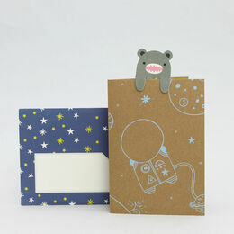 Noodoll Star Gazing Greeting Card & Bookmark