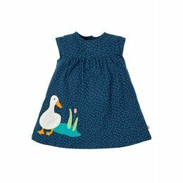 Little Lola Dress - Marine Blue Scatter Spot/Duck