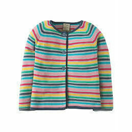 Milly Swing Cotton Cardigan - Rainbow Knit