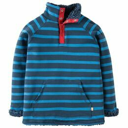 Snuggle Reversible Fleece - Navy Stripe