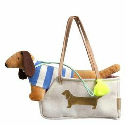 Sausage Dog in a Bag Doll Accessory