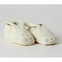 Baby Bunny Organic Cotton Booties - Mint