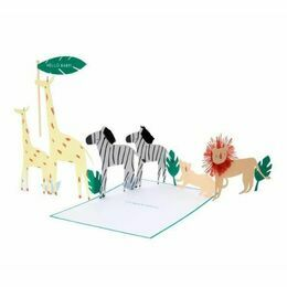 Safari Hello Baby Concertina Card