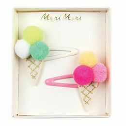 Pom Pom Icecream Hair Slides