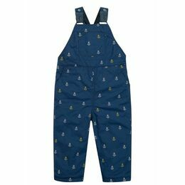 Little Tom Dungaree - Marine Blue Anchors