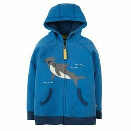Lucas Zip Up Hoody - Sail Blue Shark