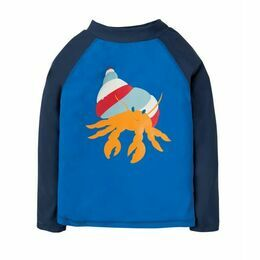Sun Safe Rash Vest - Sail Blue Hermit Crab
