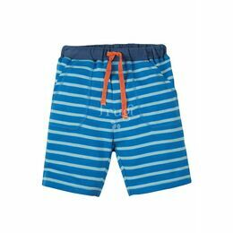 Little Stripy Shorts - Sail Blue Breton