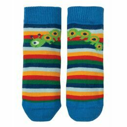 Perfect Little Pair Socks - Rainbow Stripe / Caterpillar