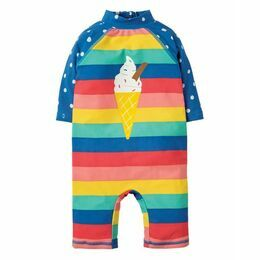 Little Sun Safe Suit - Rainbow Stripe / Cone