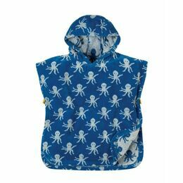 Little Havana Hooded Towel - Sail Blue Octopus
