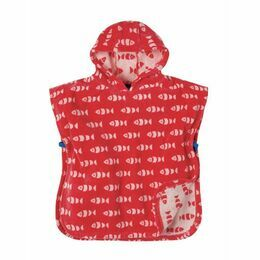Little Havana Hooded Towel - Tomato Fish