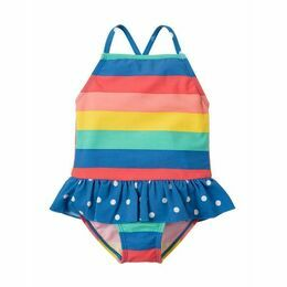 Little Coral Swimsuit - Rainbow Stripe
