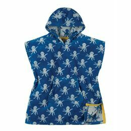 Havana Hooded Towel - Sail Blue Octopus