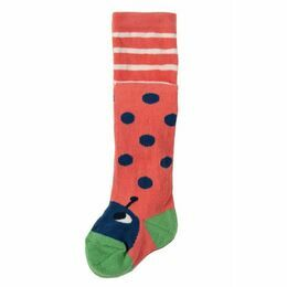 Little Twinkle Toes Tights - Coral Spot / Ladybird