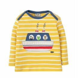 Bobby Applique Top - Sun Yellow Breton / Boat