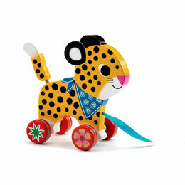 Wooden Pull-along Toy - Greta the Leopard