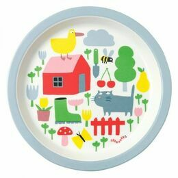Countryside Melamine Baby Plate