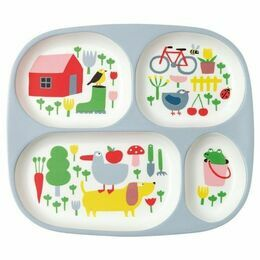 Countryside Melamine 4 Compartment Tray