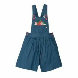 Chambray Culotte Dungaree - Chambray & Strawberries