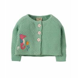 Cute As A Button Cardi - Clover Seahorse