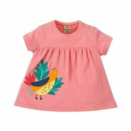 Eva Applique Top - Guava Pink Golden Pheasant