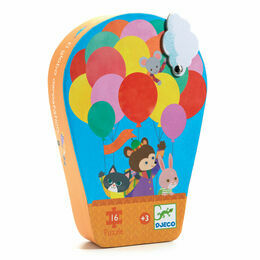 Djeco Silhouette Puzzle 16 Piece - Hot Air Balloon