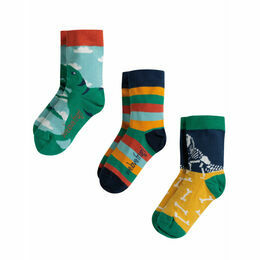 Rock My Socks 3 Pack, Dino Multipack, UK