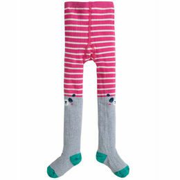Fun Knee Tights, Flamingo Stripe/Panda