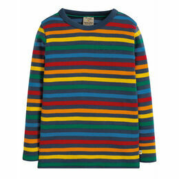 Favourite Long Sleeve Tee, Rainbow Stripe