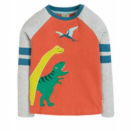 Alfie Applique Top, Paprika/Dinos