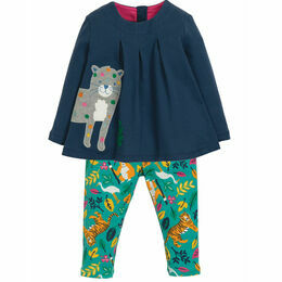 Ottilie Outfit, Space Blue/Snow Leopard