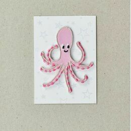 Embroidered Iron-on Patch - Octopus