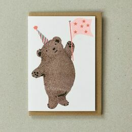 Confetti Pet Greeting Card - Bear