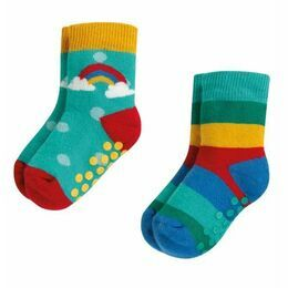 Frugi Rainbow Grippy Socks - 2 Pack