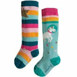 Hygge High Knee Unicorn Socks - 2 Pack