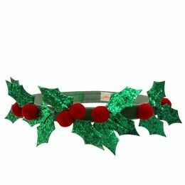 Meri Meri Glitter Holly Headband