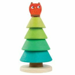 Tender Leaf Toys Owl Fir Tree Stacking Game
