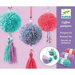 Djeco Pom Pom Making Kit - 3 Hanging Tassels