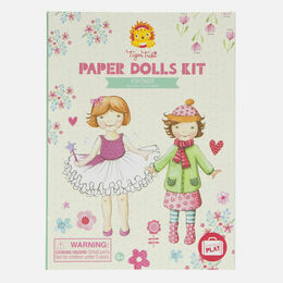 Tiger Tribe Paper Dolls Kit - Vintage