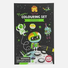 Tiger Tribe Neon Colouring Sets - Outer Space