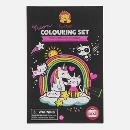 Tiger Tribe Neon Colouring Sets - Unicorn & Friends
