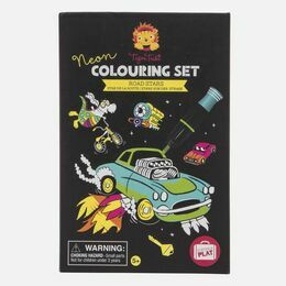 Tiger Tribe Neon Colouring Sets - Road Stars