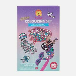 Tiger Tribe Glitter Colouring Set - Ocean Dreams