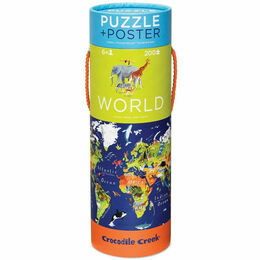 Crocodile Creek 200 Piece World Animals Poster Puzzle