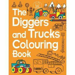 Diggers and Trucks Colouring Book