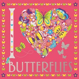 I Heart Butterflies Colouring Book